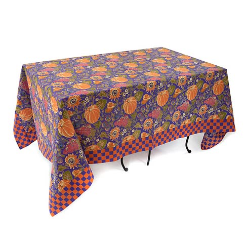 "$75.00 Harvest Pumpkin Tablecloth - 58"" X 90"""