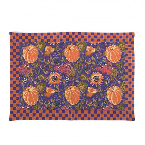 $12.00 Harvest Pumpkin Placemat