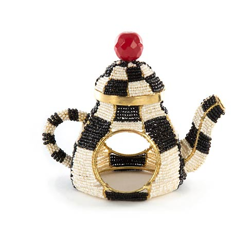 $30.00 Tea Kettle Napkin Ring - Courtly Check