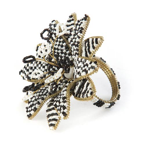 MacKenzie-Childs   Avant-Garden Napkin Ring - Black $22.00