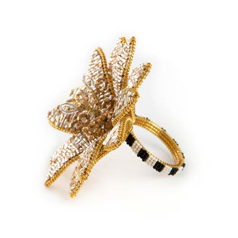 $22.00 Golden Flower Napkin Ring