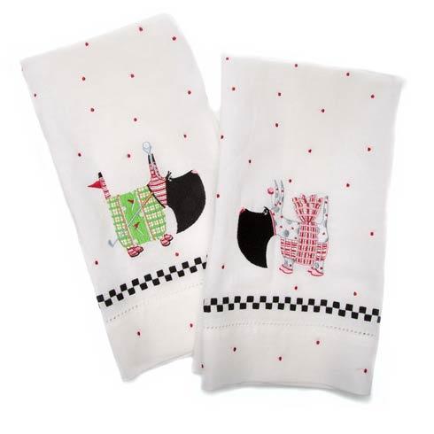$28.00 Patience Brewster Scottie Tea Towels - Set of 2