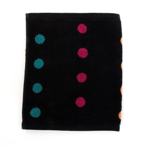 $10.00 Dot Washcloth - Black