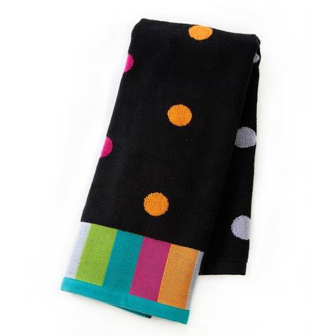 $25.00 Dot Hand Towel - Black