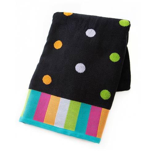 $45.00 Dot Bath Towel - Black