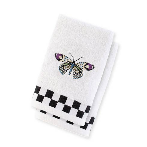 $38.00 Butterfly Fingertip Towels - Set Of 2