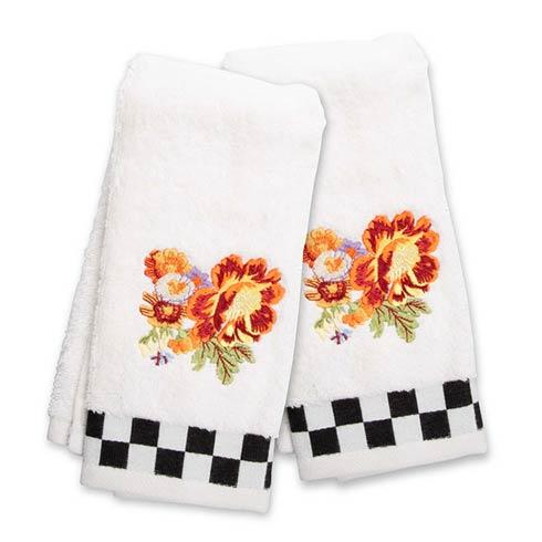 $42.00 Peony Fingertip Towels - Set of 2