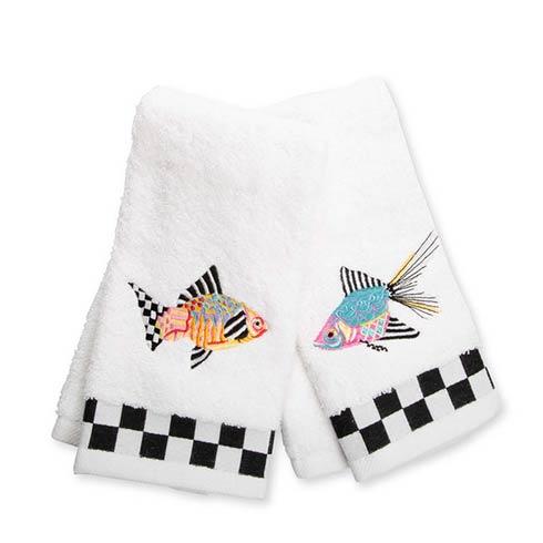 $42.00 Fantasia Fish Fingertip Towels - Set of 2