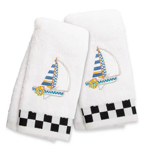 $42.00 Sail Away Fingertip Towels - Set of 2