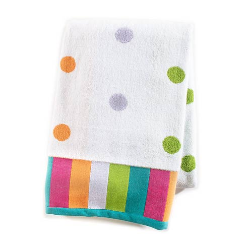 $38.00 Dot Bath Towel - White