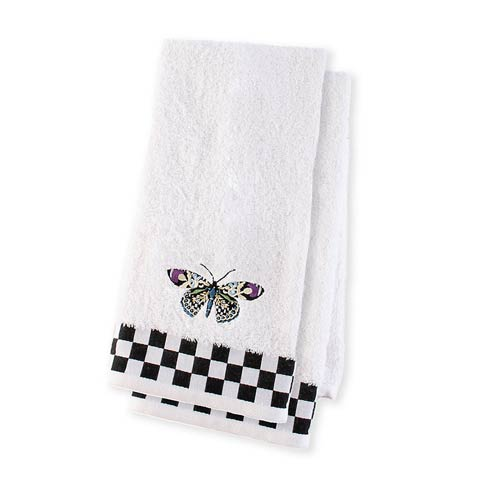 $68.00 Butterfly Hand Towels - Set Of 2