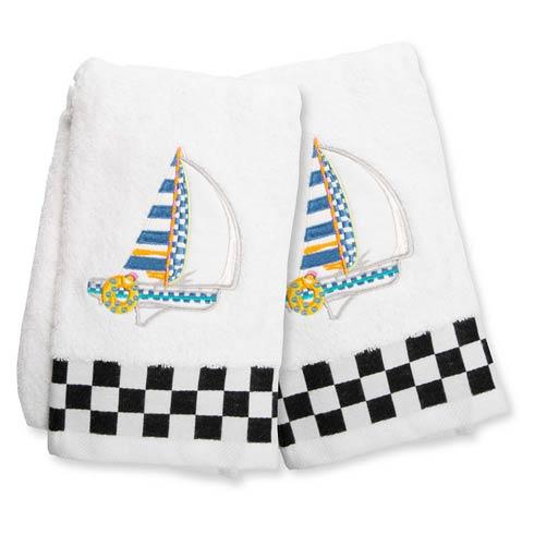 $75.00 Sail Away Hand Towels - Set of 2