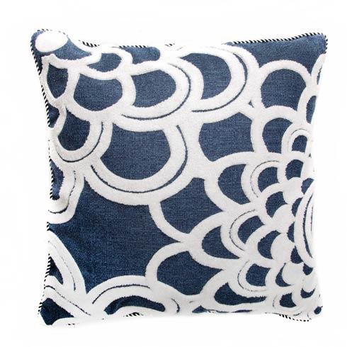 $135.00 Geo Flower Outdoor Accent Pillow - Navy