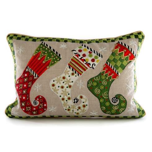 $135.00 Elf Stockings Lumbar Pillow