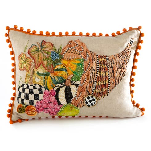 $150.00 Cornucopia Lumbar Pillow