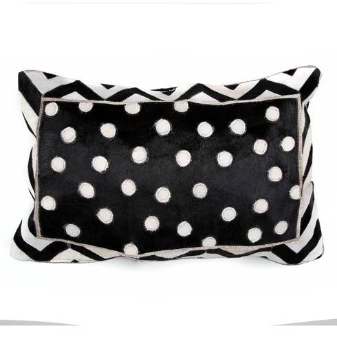 $210.00 Dotty Hair on Hide Lumbar Pillow