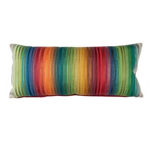 $150.00 Garden Stripe Lumbar Pillow