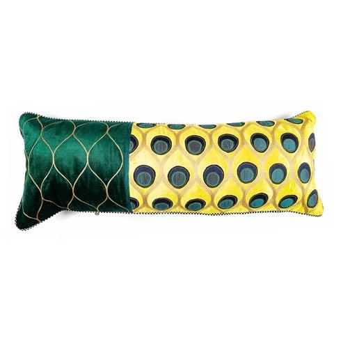 $135.00 Peacock Lumbar Pillow