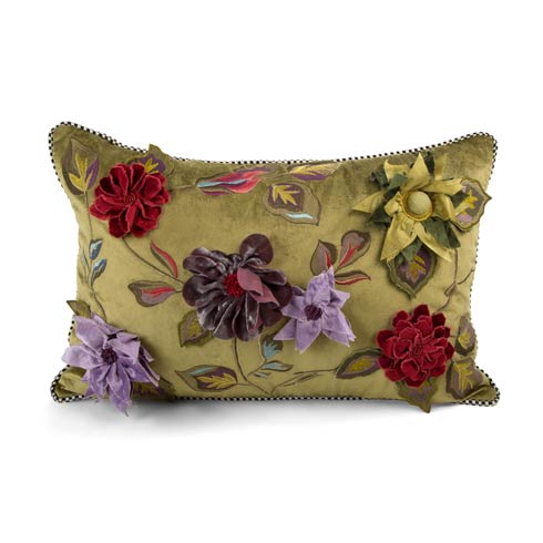 $150.00 Greengage Floral Lumbar Pillow