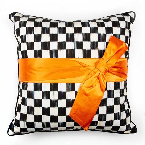 $110.00 Courtly Check Sash Pillow - Orange