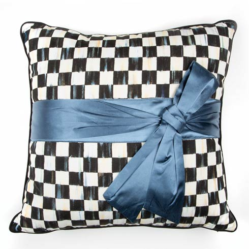 $110.00 Courtly Check Sash Pillow - Teal