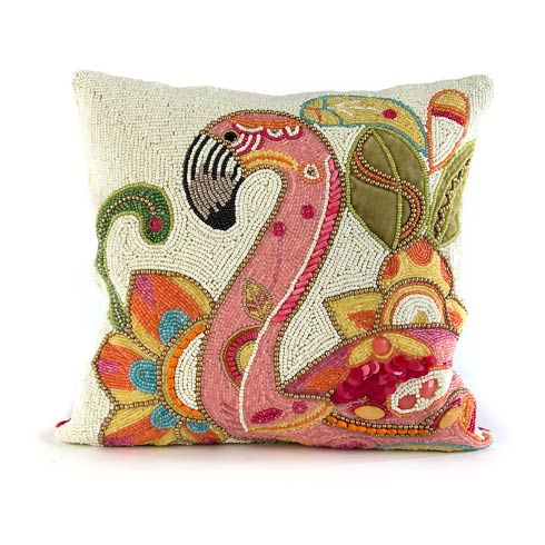 $85.00 Groovy Flamingo Pillow