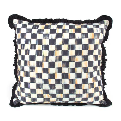 $110.00 Courtly Check Ruffled Square Pillow