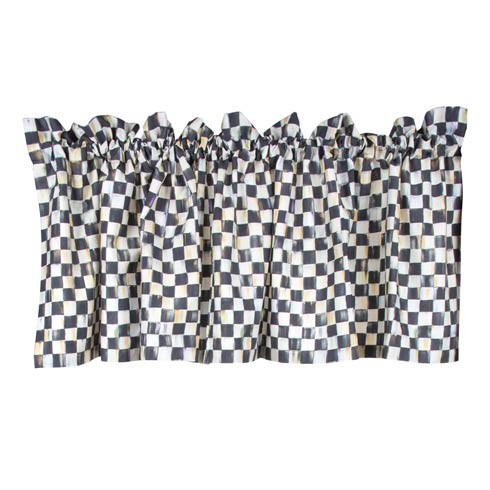 MacKenzie-Childs Courtly Check Windows & Walls Cafe Valance $98.00