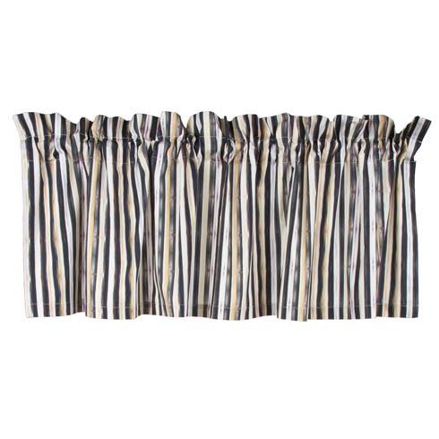 $95.00 Courtly Stripe Cafe Valance