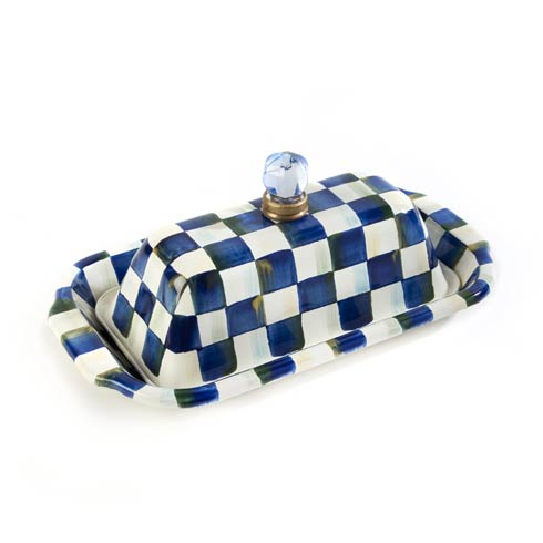 MacKenzie-Childs Royal Check Tabletop Butter Box $105.00