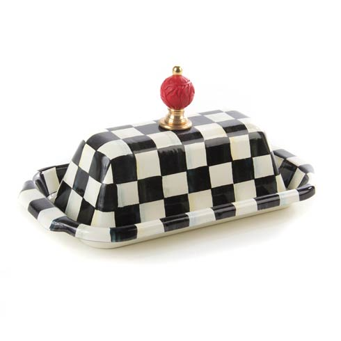 MacKenzie-Childs Courtly Check Tabletop Enamel Butter Box $98.00