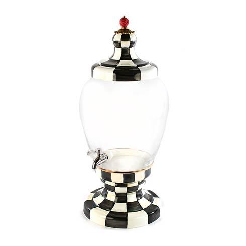MacKenzie-Childs  Glass Courtly Check Enamel Beverage Hostess $295.00