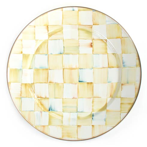 MacKenzie-Childs  Parchment Check Enamel Charger/Plate $52.00
