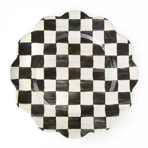 MacKenzie-Childs Courtly Check Tabletop Enamel Petal Charger/Plate $58.00