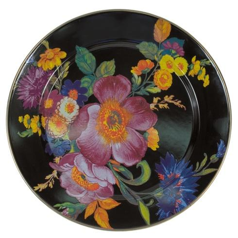 MacKenzie-Childs  Flower Market  Charger/Plate - Black $52.00