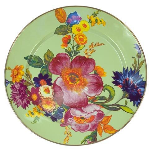 MacKenzie-Childs  Flower Market  Charger/Plate - Green $52.00