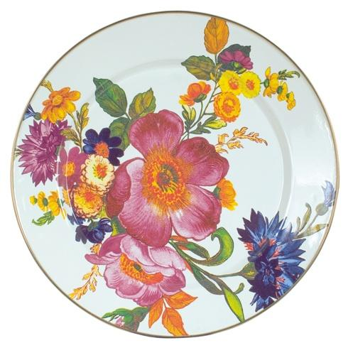MacKenzie-Childs  Flower Market  Charger/Plate - White $52.00