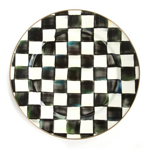MacKenzie-Childs Courtly Check Tabletop Enamel Charger/Plate $58.00