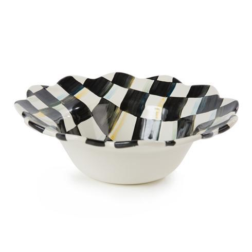 MacKenzie-Childs Courtly Check Tabletop Enamel Petal Breakfast Bowl $48.00