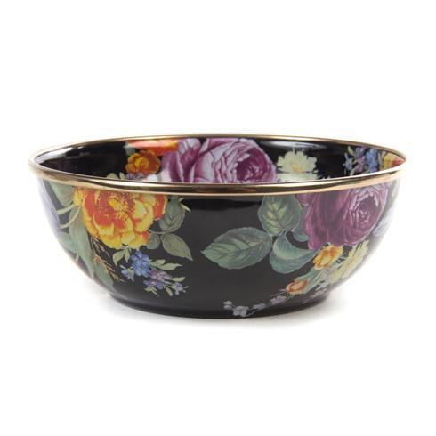 MacKenzie-Childs  Flower Market  Everyday Bowl - Black $42.00