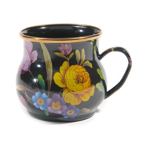 MacKenzie-Childs Flower Market Tabletop Mug - Black $48.00