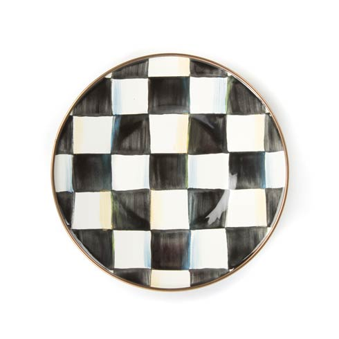 MacKenzie-Childs Courtly Check Tabletop Enamel Saucer $38.00