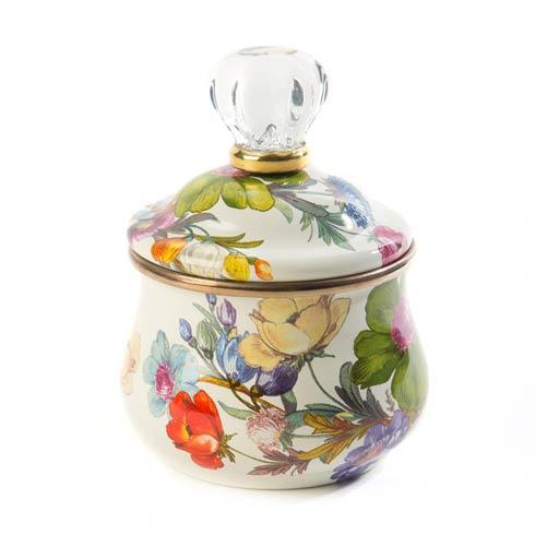 MacKenzie-Childs Flower Market Tabletop Lidded Sugar Bowl - White $82.00