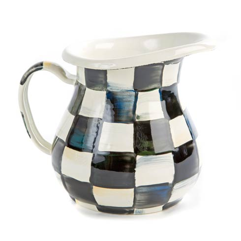 MacKenzie-Childs Courtly Check Tabletop Enamel Creamer $55.00