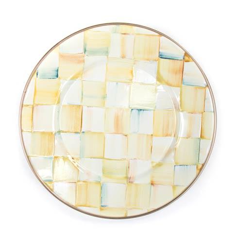 MacKenzie-Childs  Parchment Check Enamel Salad/Dessert Plate $40.00