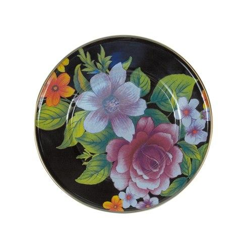 MacKenzie-Childs  Flower Market  Salad/Dessert Plate - Black $40.00