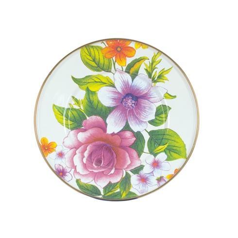 MacKenzie-Childs  Flower Market  Salad/Dessert Plate - White $40.00