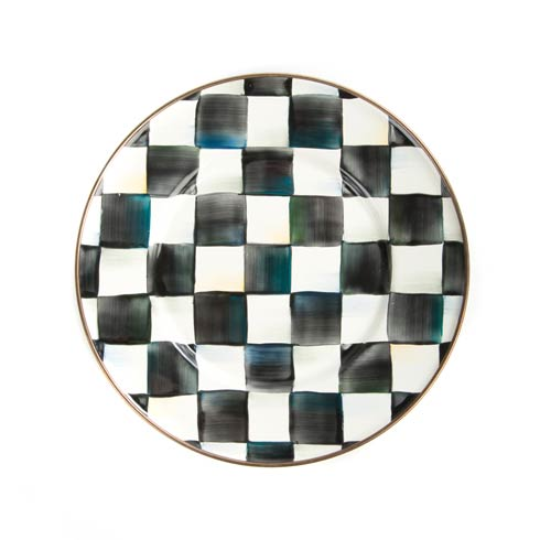 MacKenzie-Childs Courtly Check Tabletop Enamel Salad/Dessert Plate $45.00