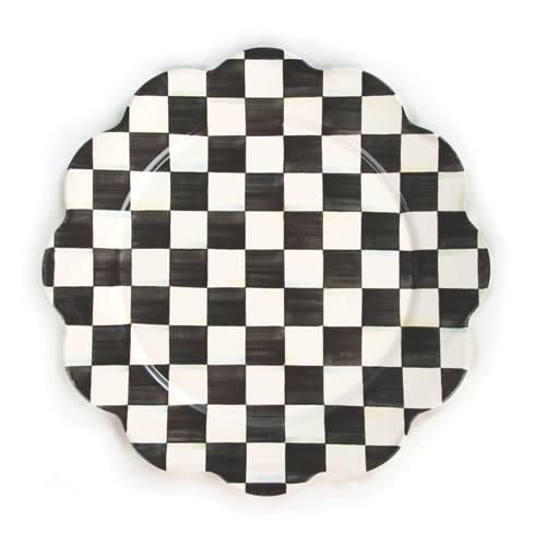 MacKenzie-Childs  Courtly Check Enamel Petal Platter $68.00