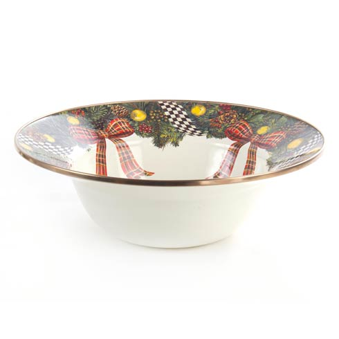 Evergreen Enamel Serving Bowl image